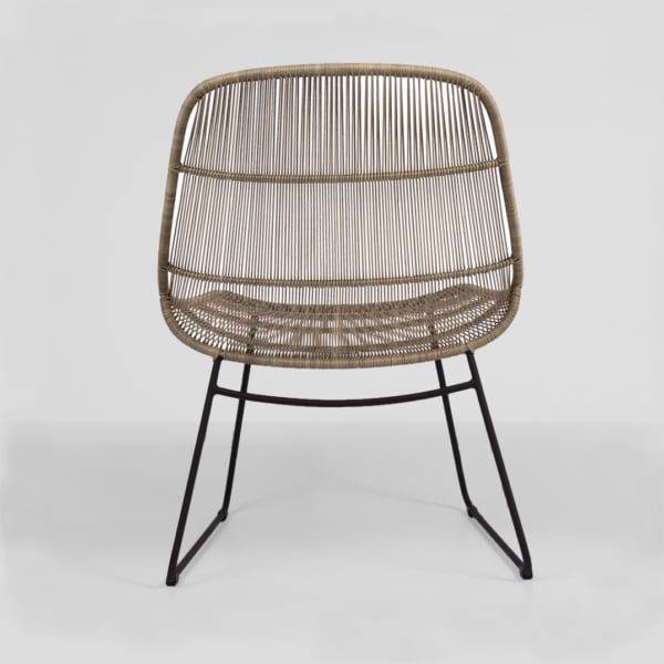 oliver wicker chair - natural - view front