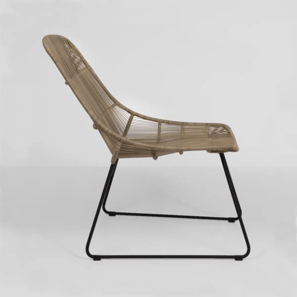 oliver wicker chair - natural - side