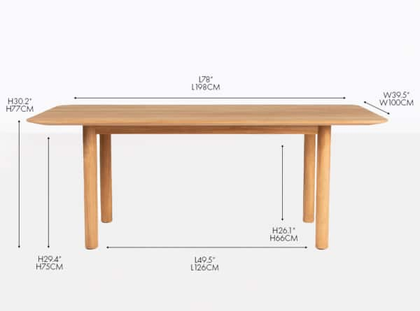 Tradition grade-a teak dining table
