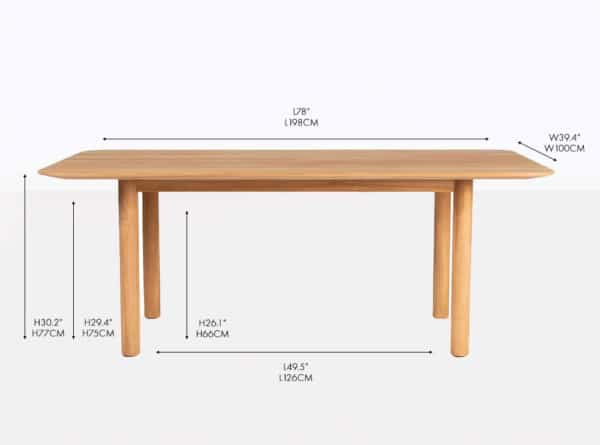 tradition teak dining table