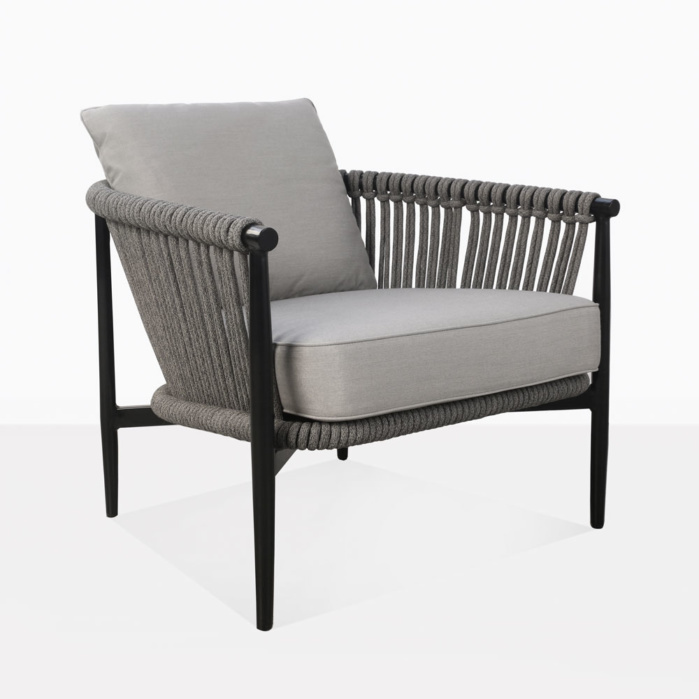 Archi Rope And Aluminum Outdoor Relaxing Chair With Cushions