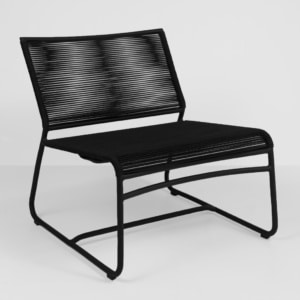 komodo black outdoor chair