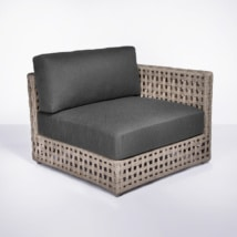 logan outdoor sectional corner - front angle