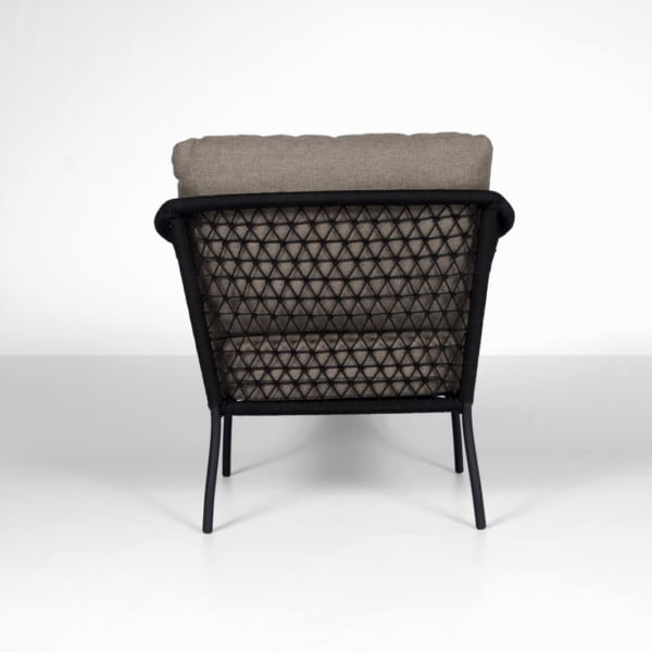 lola outdoor rope club chair - back