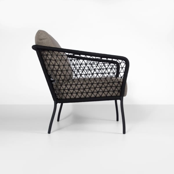 lola outdoor rope club chair - side