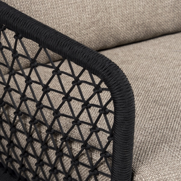 weave view - lola outdoor rope club chair - closeup