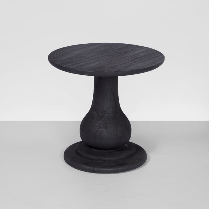 sumatra outdoor black side table (low)