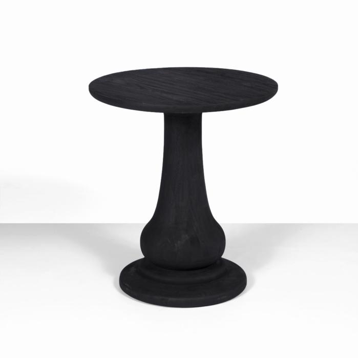 sumatra outdoor black side table