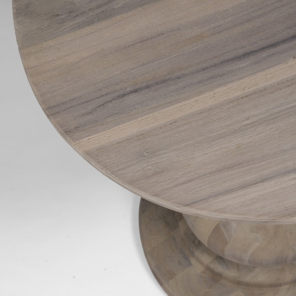 top view of sumatra natural wood table