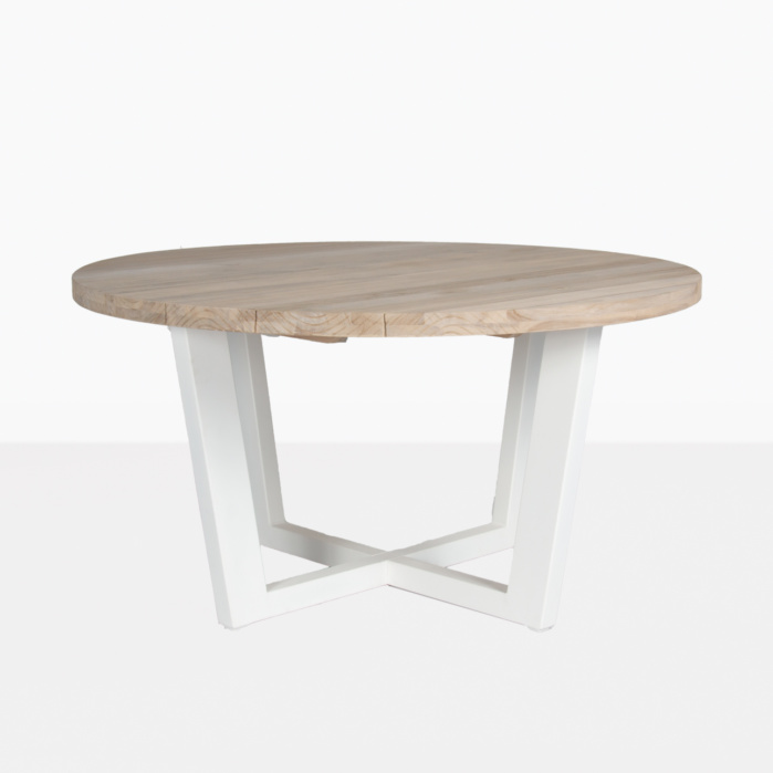 Jimmy Outdoor Round Reclaimed Teak, Outdoor Round Tables