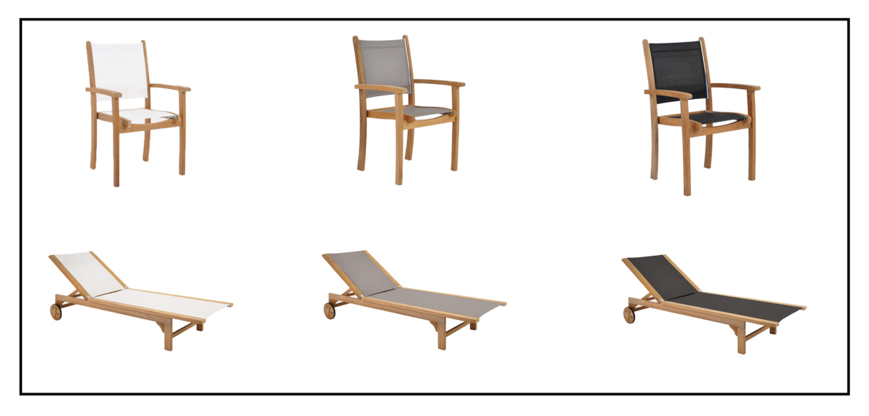 Tango dining chairs and sun loungers - deck lounge chairs