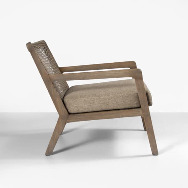 teak wood and rope chair - gazzoni