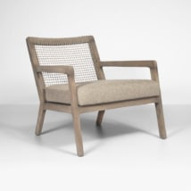 gazzoni rope and teak relaxing chair