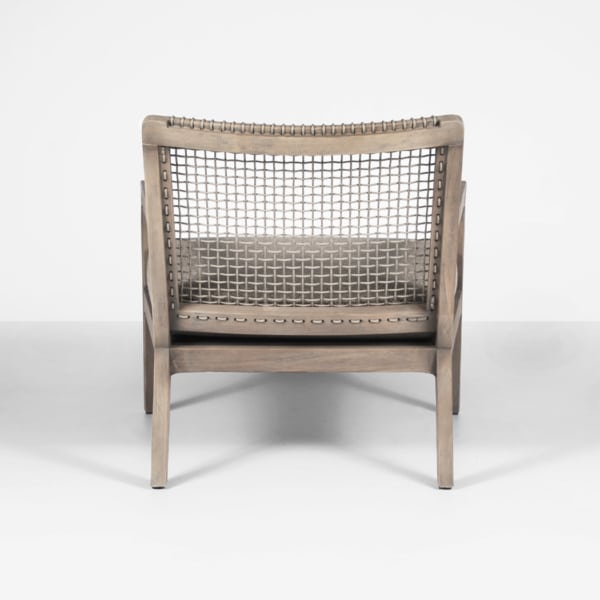 gazzoni teak and rope club chair - back