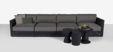 Logan black sectional collection