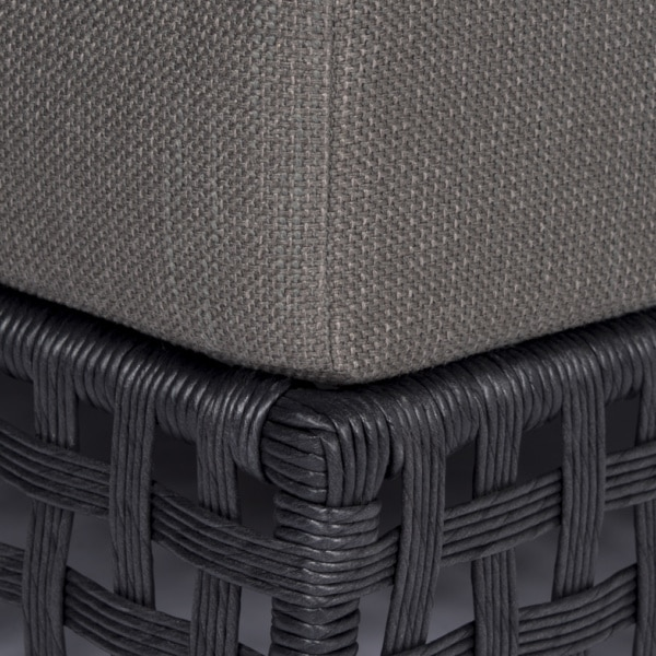 Logan Outdoor Wicker Single (Black) Close Up