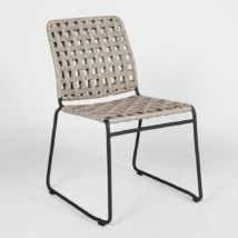 vita outdoor wicker side chair natural weave