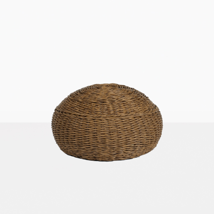 Donut Wicker Pouf