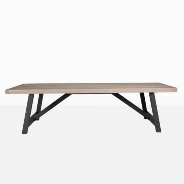 outdoor dining table with black legs - cool outdoor dining tables