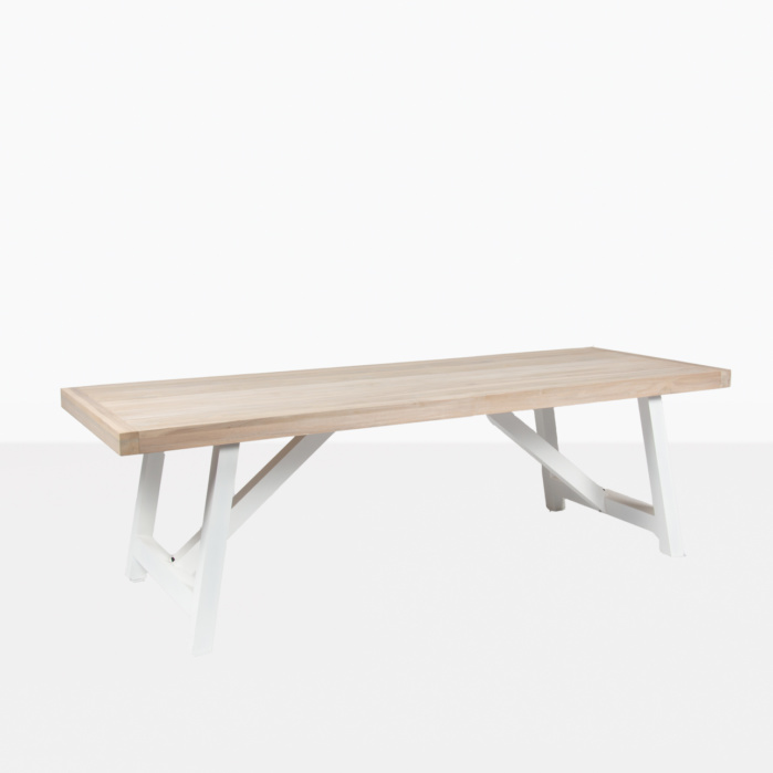 outdoor teak dining table