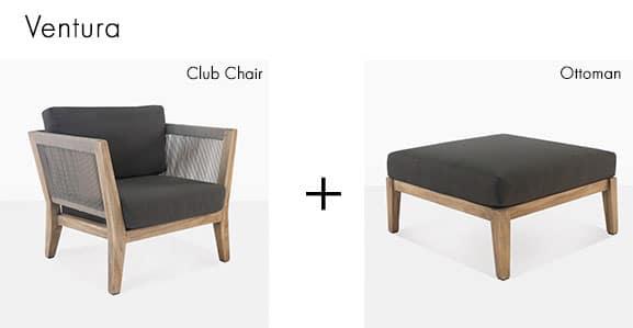 Ventura Club Chair and Ottoman