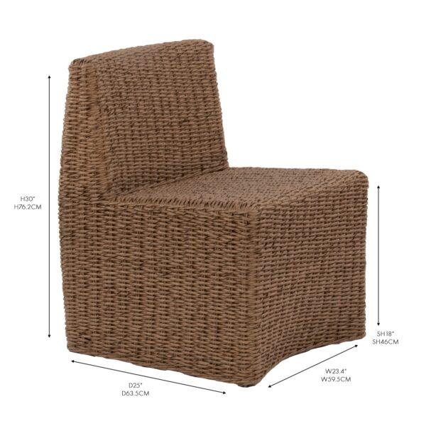 albert outdoor wicker brown dining chair