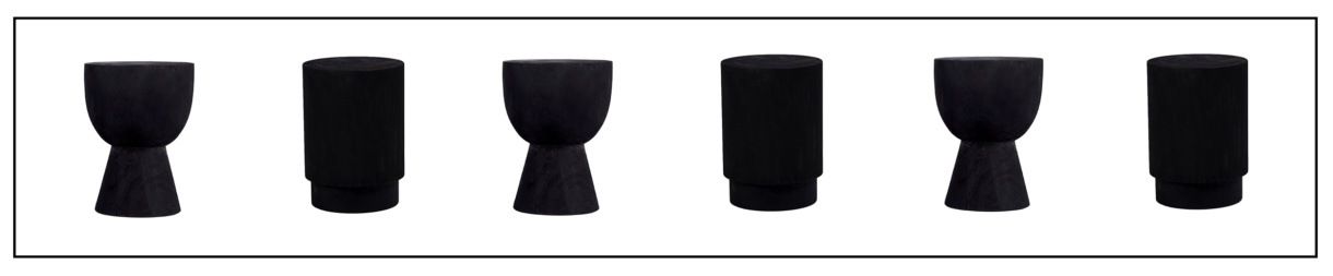 black round end tables - Sammy and Yuma