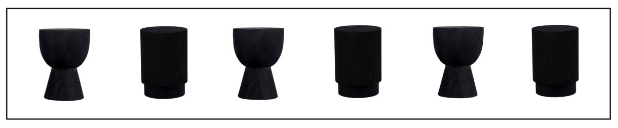 black round end tables - Sammy and Yuma