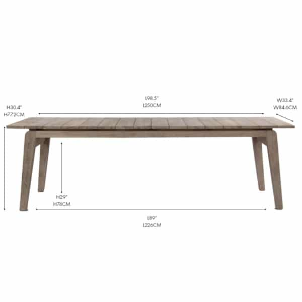 copenhague outdoor reclaimed teak dining table