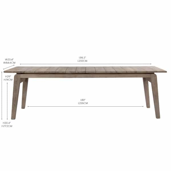 Copenhague reclaimed teak dining table los angeles
