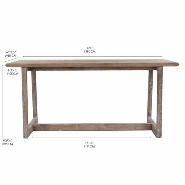 teak pub table - counter height bar furniture