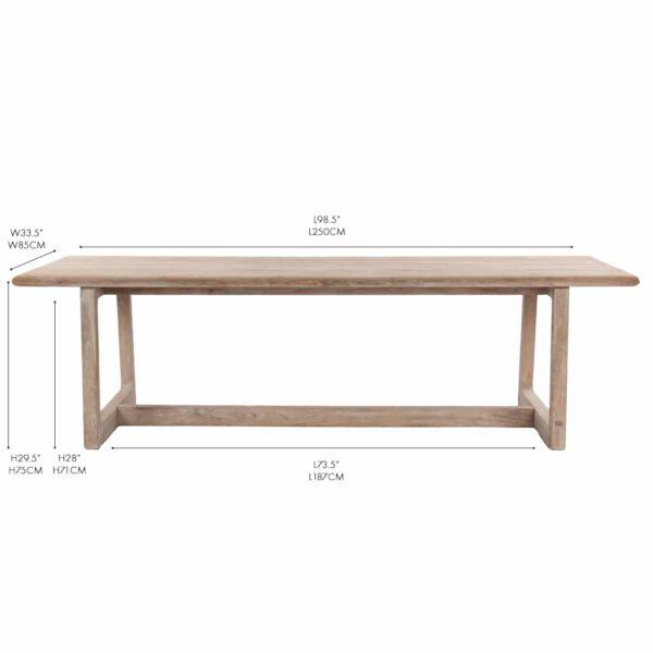 donald reclaimed teak rectangular dining table