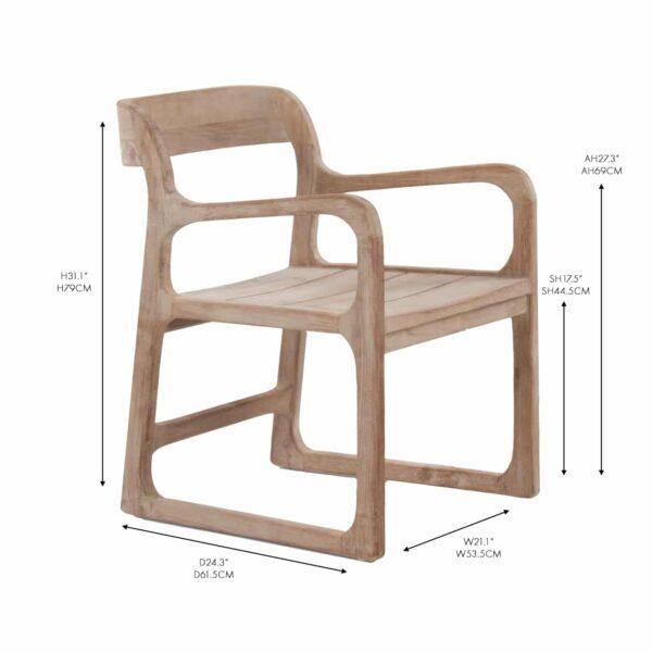 Emily Reclaimed Teak Dining Arm Chair