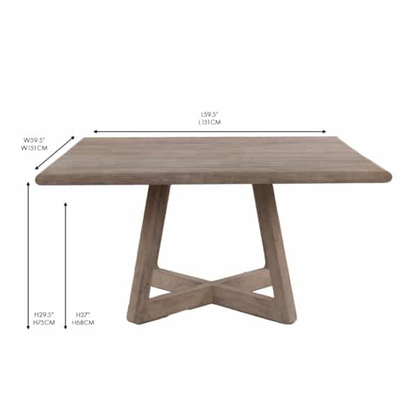 square wood table