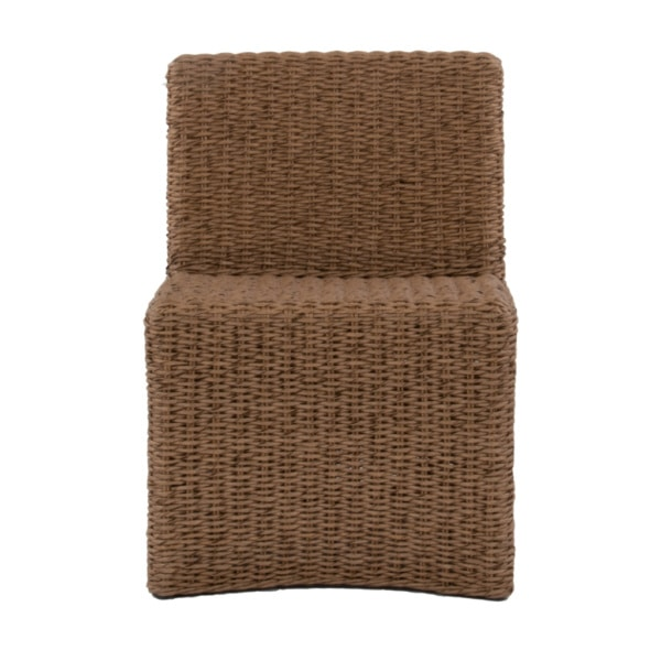 Albert Outdoor Wicker Dining Side Chair Front View