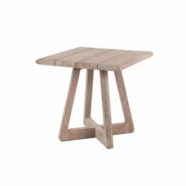 Angus Outdoor Reclaimed Teak Bistro Table Angle View