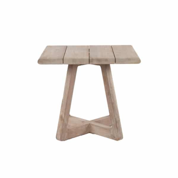 Angus Outdoor Reclaimed Teak Bistro Table Side View