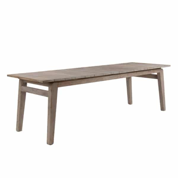 Copenhague Outdoor Reclaimed Teak Table Angle View
