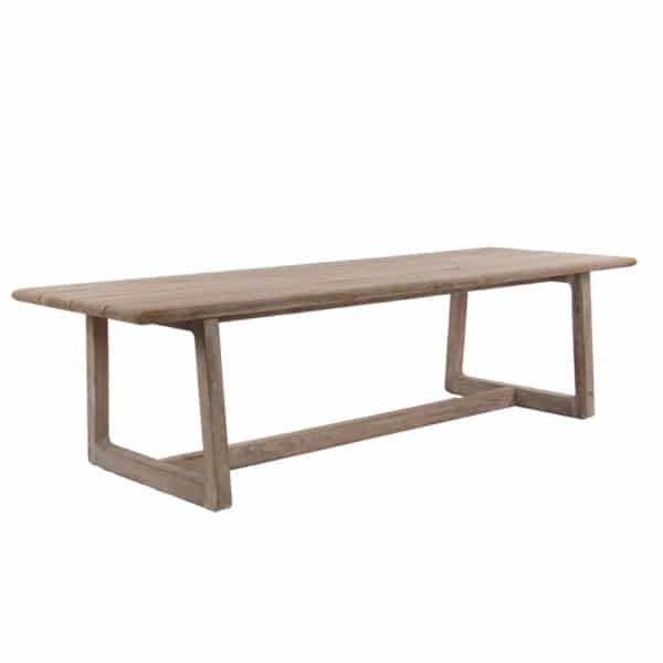 Donald Outdoor Rectangular Reclaimed Teak Dining Table Angle View