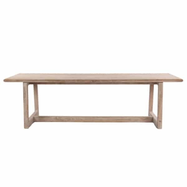 Donald Outdoor Rectangular Reclaimed Teak Dining Table Front View