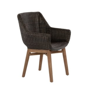 James Outdoor Wicker Dining Armchair