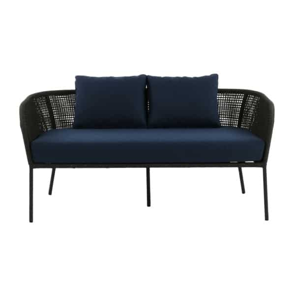 cool sofa with blue cushions