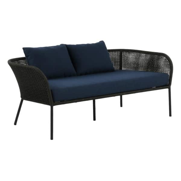 Scottie Sofa - black and blue couch