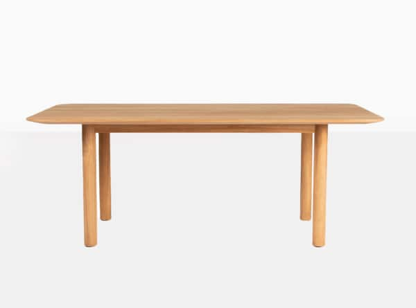 Tradition Outdoor Teak Dining Table Side View
