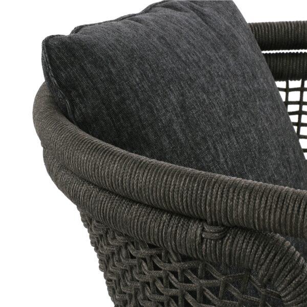 dark gray rope chair