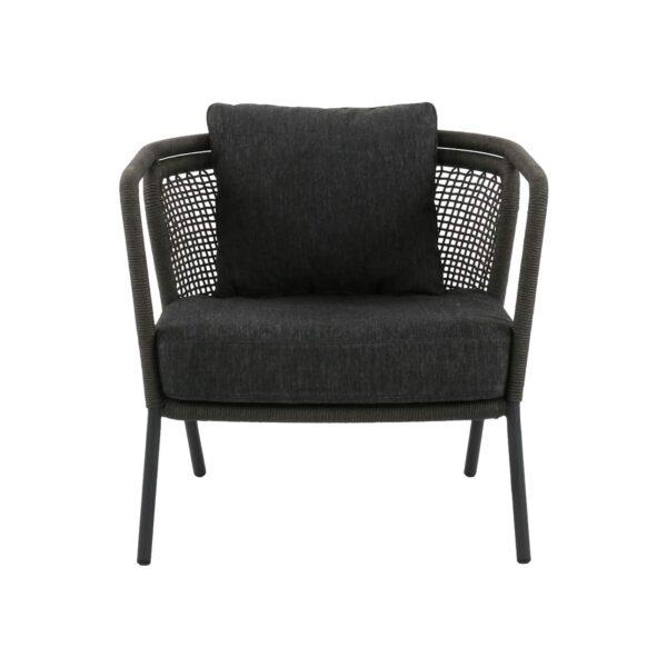 dark gray club chair