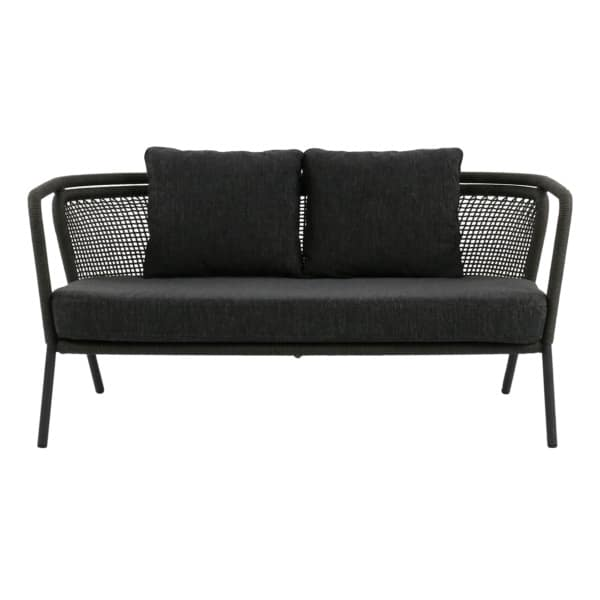 dark gray couch front