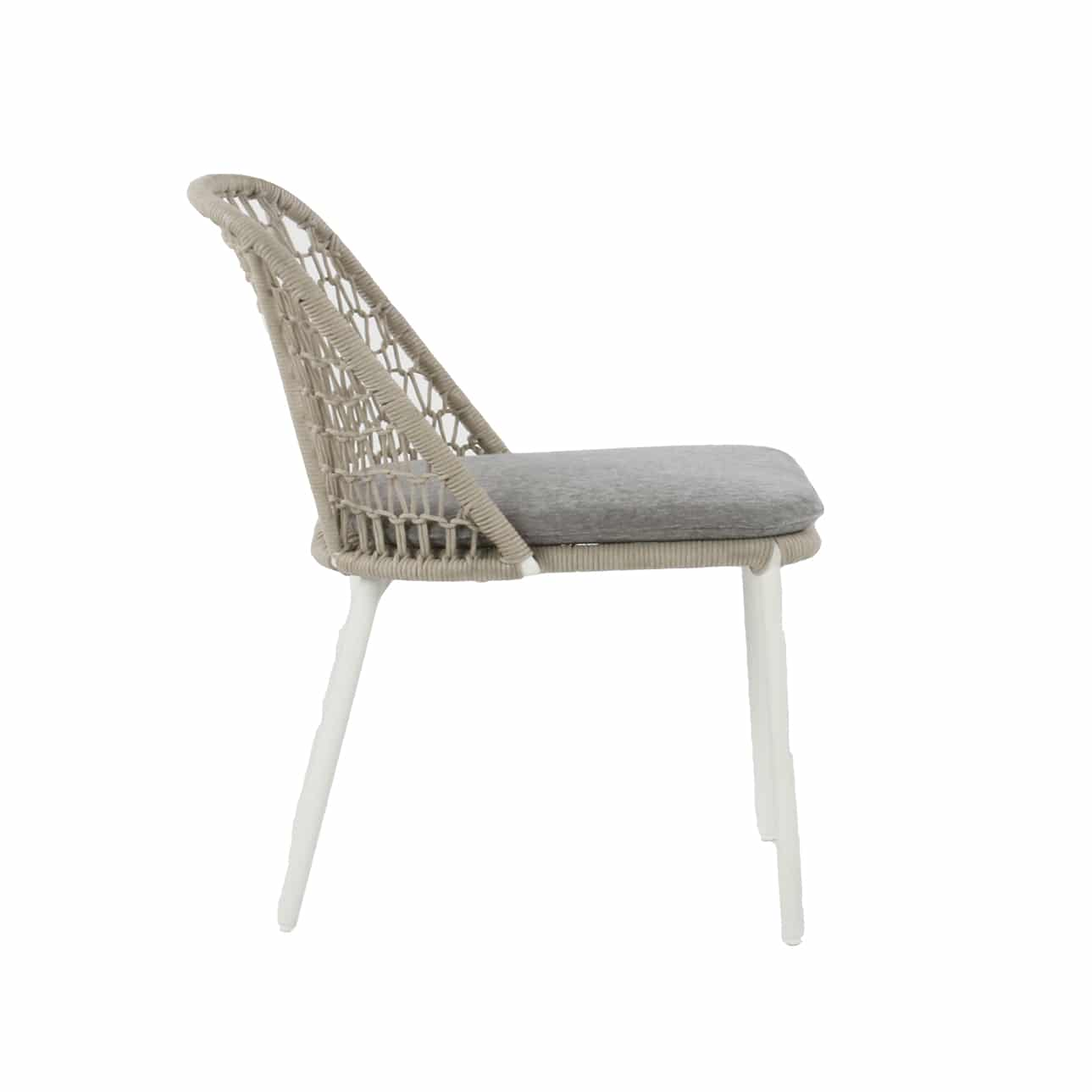 white wicker dining chair