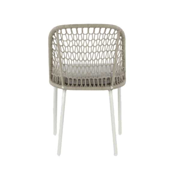white dining chair rear