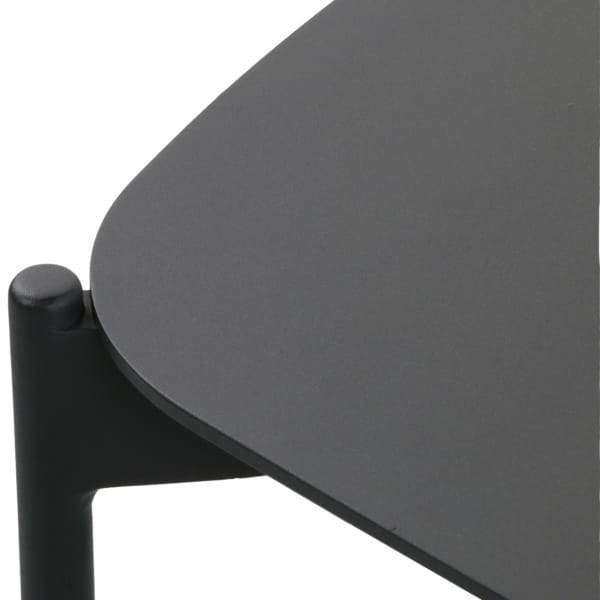 charcoal black coffee table for outside
